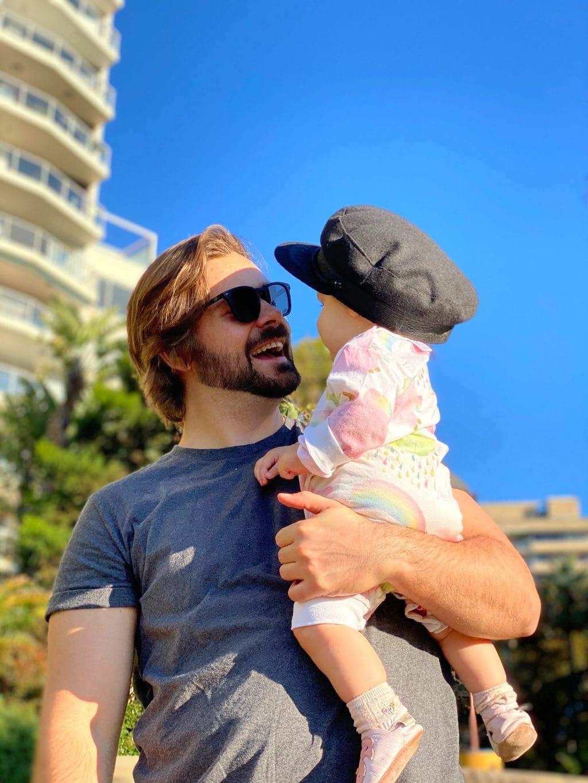 jordan and baby hat