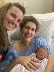 Charlotte and midwife photo