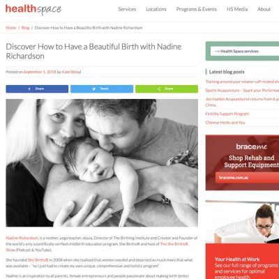 Healthspace | Discover How to Have a Beautiful Birth with Nadine Richardson