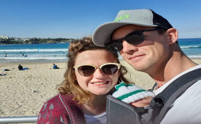 leona family beach pic